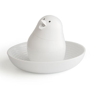 Bird S&P Shaker W/ Egg Cup White