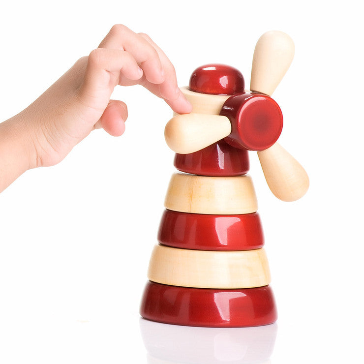 Gusto Wood Stacking Toy Red