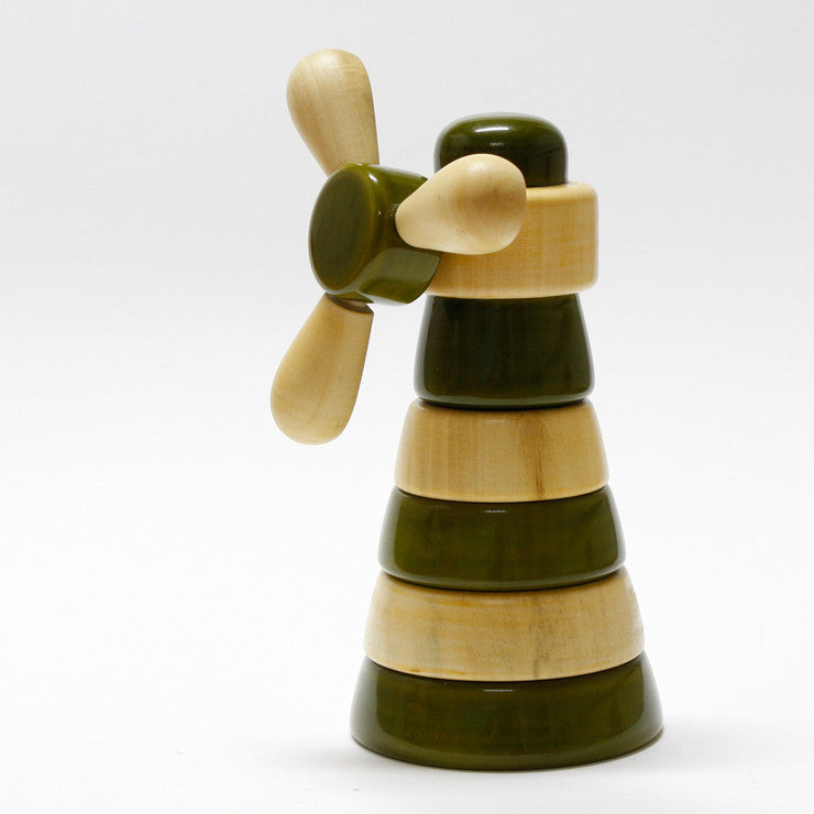 Gusto Wood Stacking Toy Green