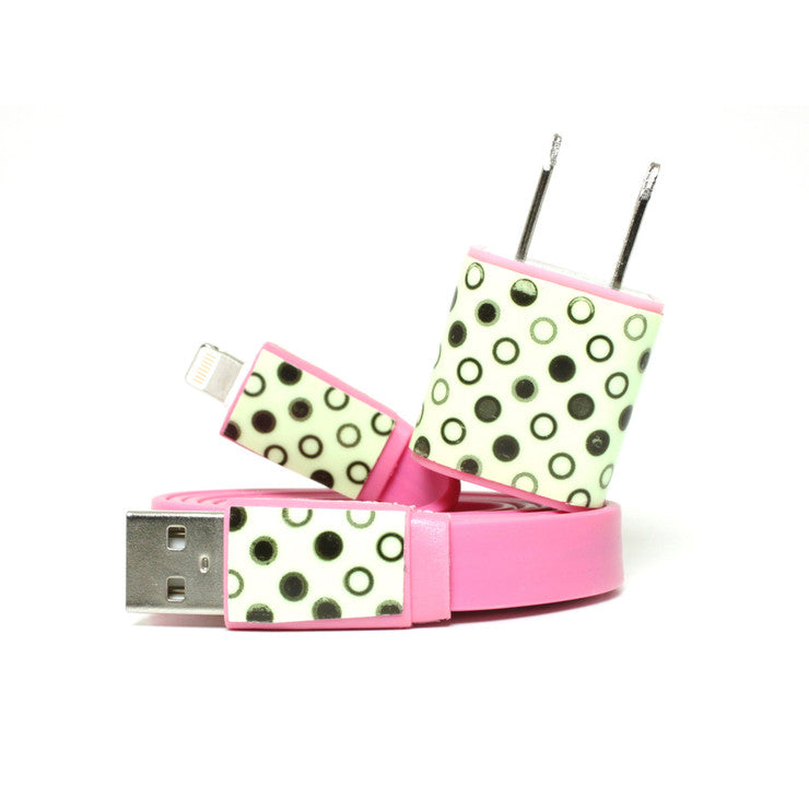 2-in-1 iPhone 5 Set Dot Pink