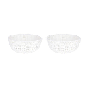 Bowl Basket White Pair