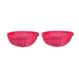Bowl Basket Pink Pair
