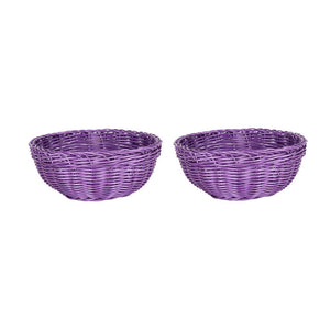 Bowl Basket Purple Pair