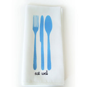 Eat Well Napkin Blue 4 Pack