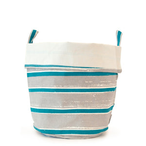 Canvas Bucket Lg Teal