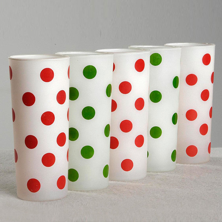 '50s Fire King Polkadot Glasses