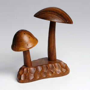 '70s Wood Tabletop Mushrooms