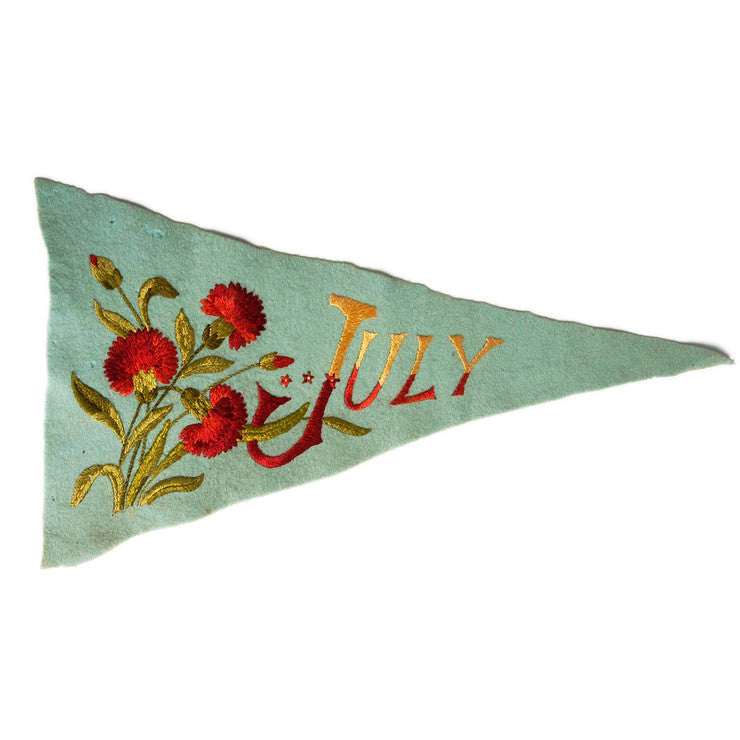 '40s Embroidered Pennant July