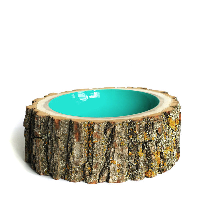 Log Bowl Large Aqua