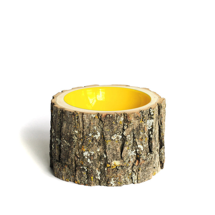 Log Bowl Medium Yellow