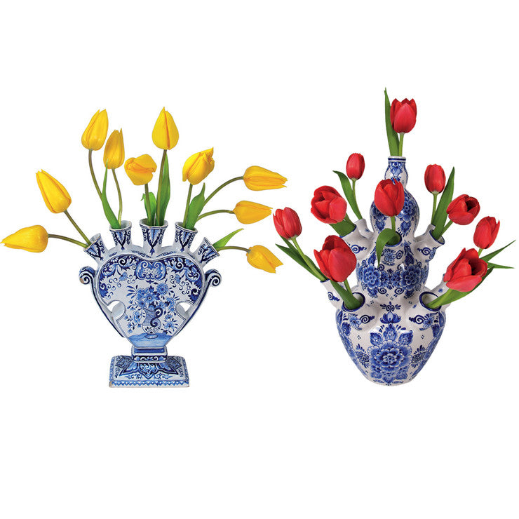 Flat Flowers Tulip Set Of 2