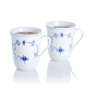 Blue Fluted Plain Mug Set Of 2