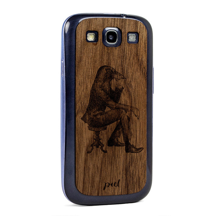 Chin Up Galaxy S3 Skin Walnut