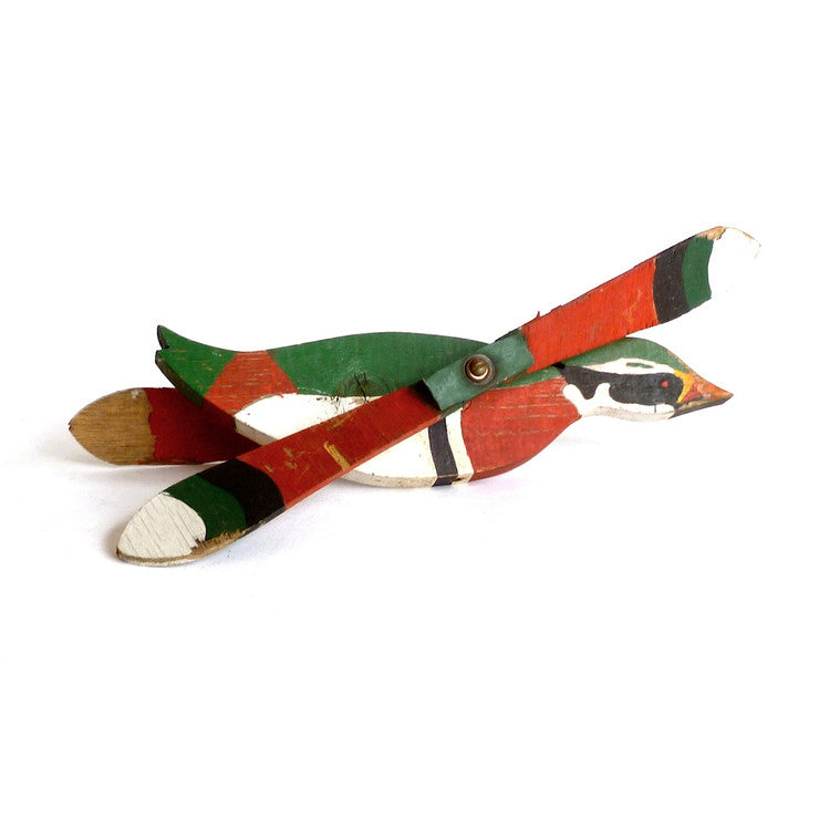 Folk Art Wood Duck Whirligig