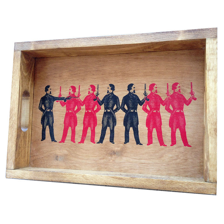 Gun Men Serving Tray