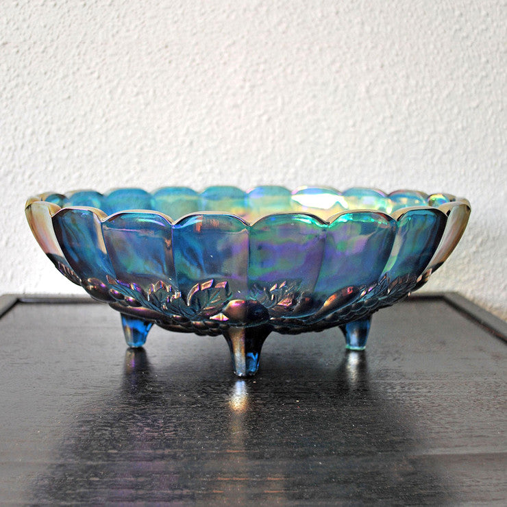 Amethyst Glass Footed Fruit Bowl