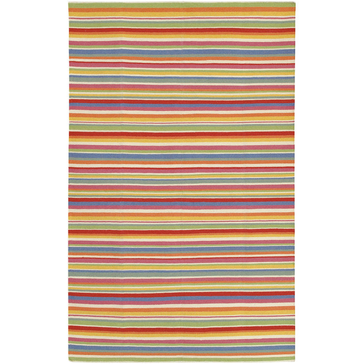 Multi Stripe Rug 5 x 8