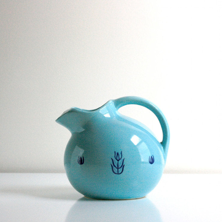 Cronin Turquoise Ball Pitcher