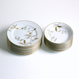 Gold Branch Dish Set