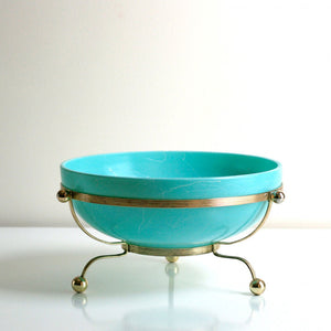 Aqua Serving Bowl With Stand