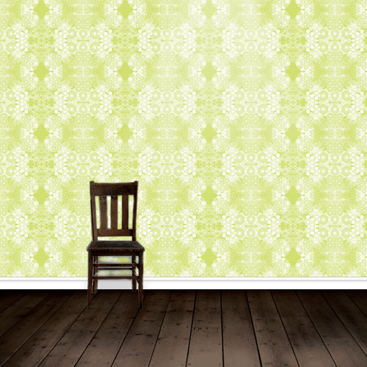 Wallpaper Metallic Acid Green