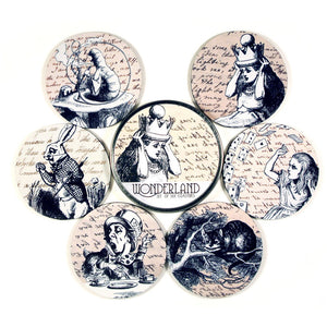 Alice In Wonderland Coaster Set