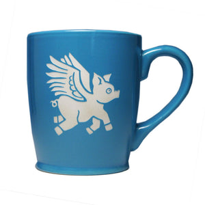 Flying Pig Mug Sky Blue