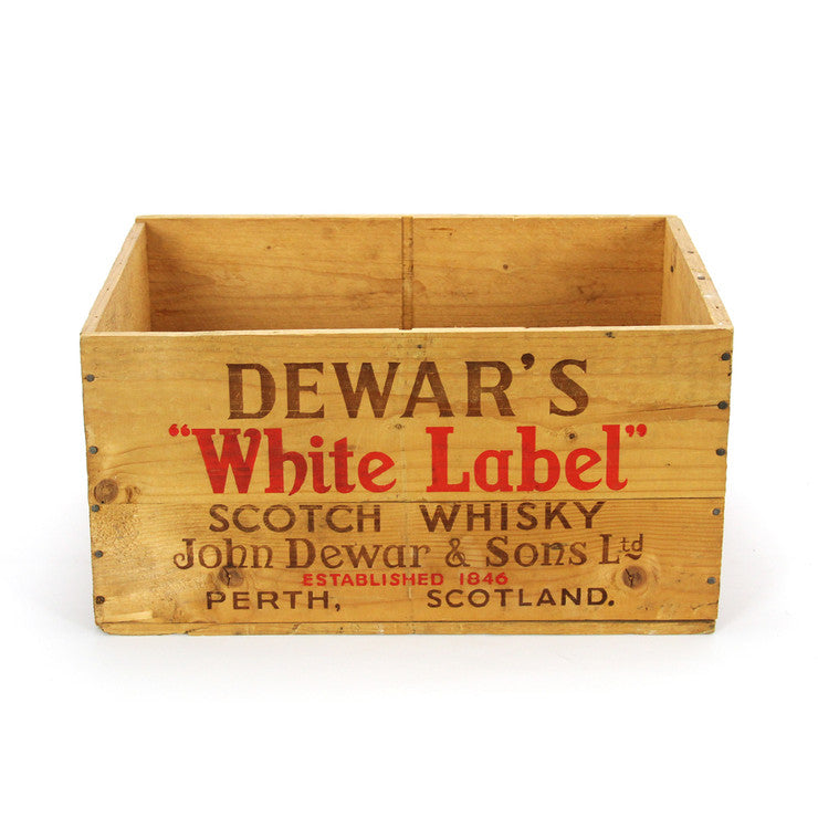 Dewar's Whiskey Crate