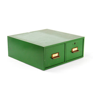 Green Metal Drawer Unit