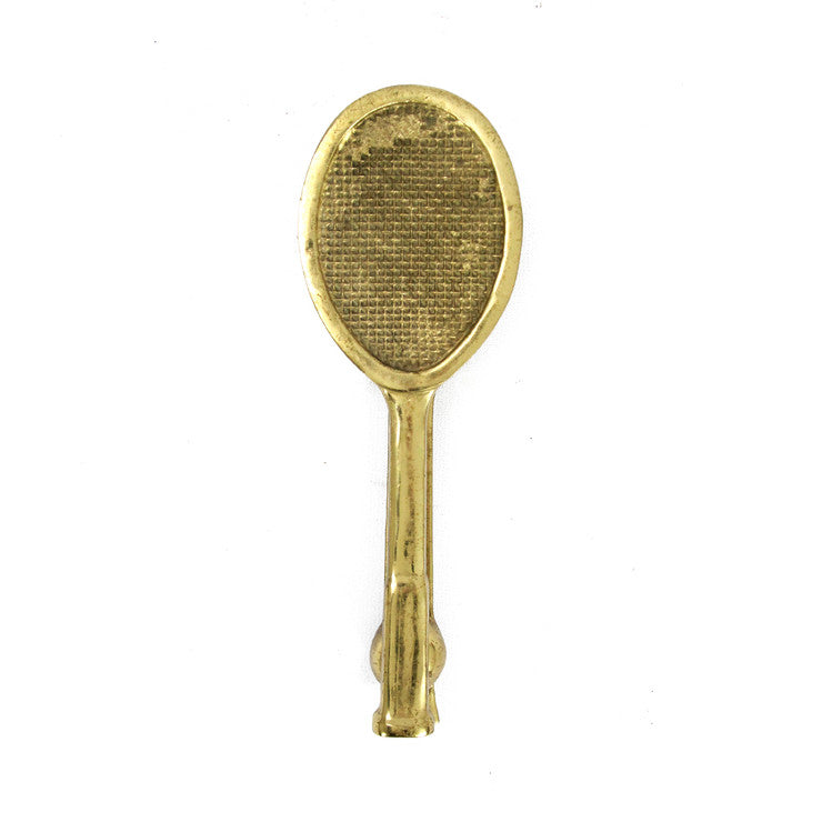 Brass Tennis Racket Door Knocker