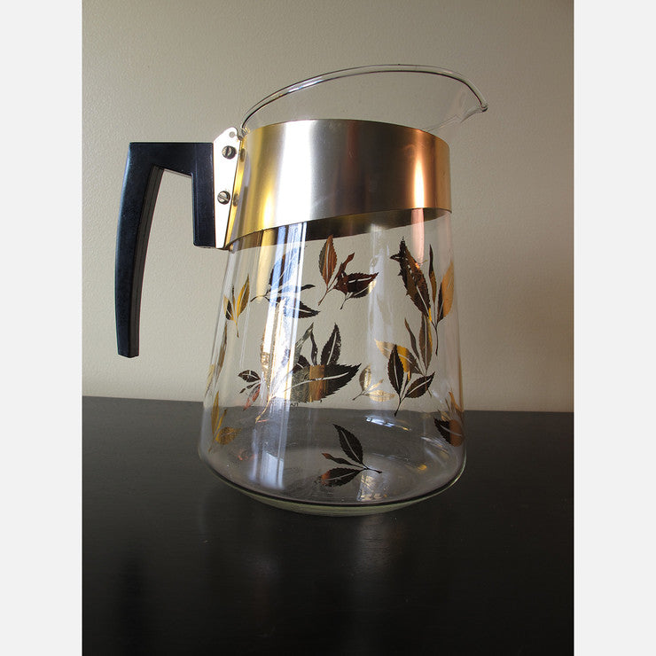 Gold Leaf Pattern Carafe