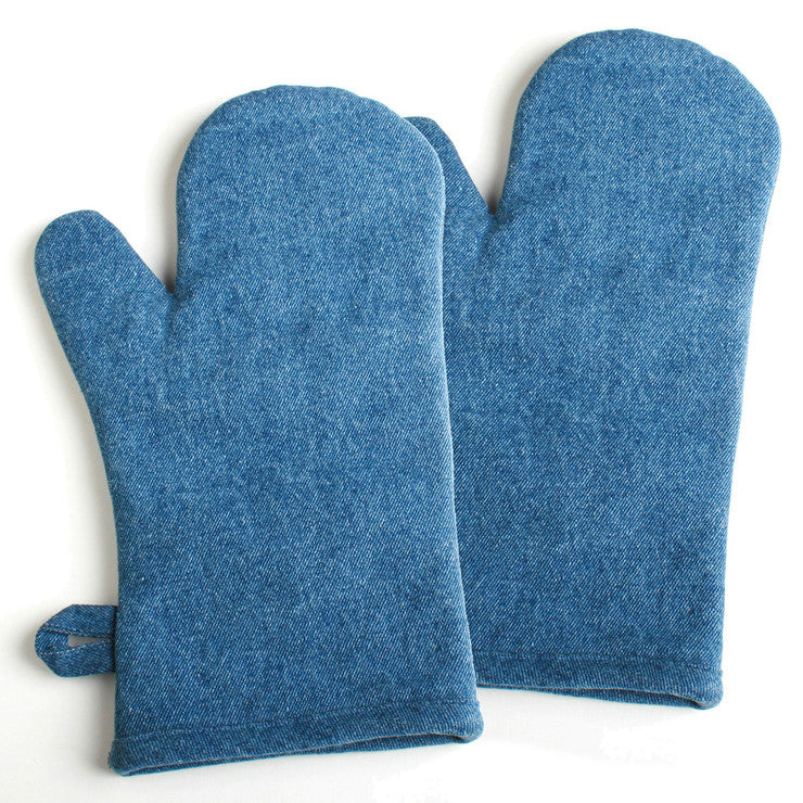 Denim Mitt Set Of 2
