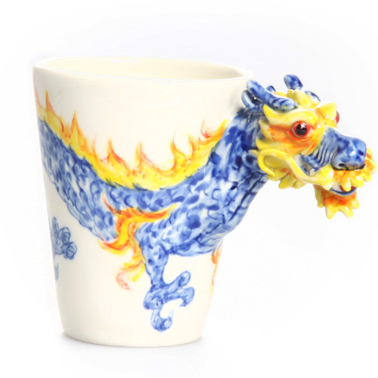 Dragon Mug Blue