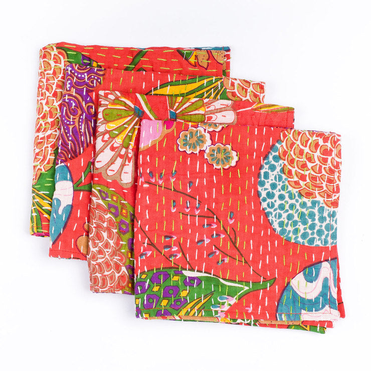 Katha Napkins Set Of 4 Red