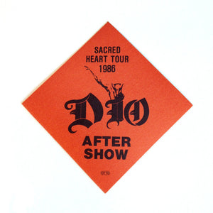 Dio 86 aftershow Backstage Pass