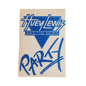 Huey lewis PARTY 86 Backstage