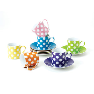 Dots Cup & Saucer Set 2.5oz