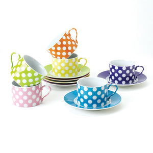 Dots Cup & Saucer Set 7oz