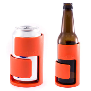 BeerHugZ Bottle & Can Orange 4Pk