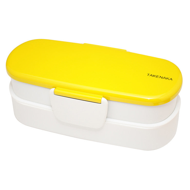 Bento-Box Double Slim Yellow