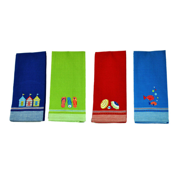 Embroidered Dishtowel Set Of 4