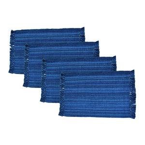 Fringe Placemat Nautical Blu 4Pc