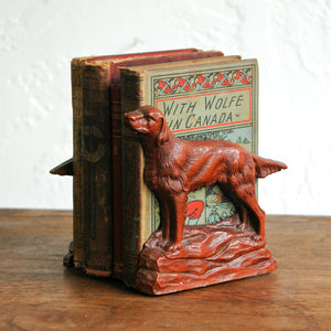 Irish Setter Bookends