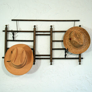 Coat Rack With Faux Horn Hooks