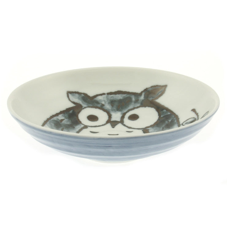 Owl Plate 7.25\ Blue Set Of 2""