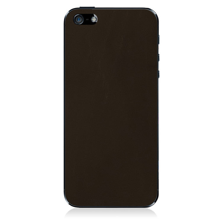 iPhone 5 Leather Back Dk Brown