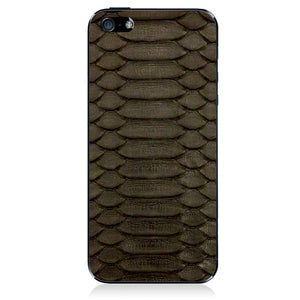 iPhone 5 Leather Back Python Blk