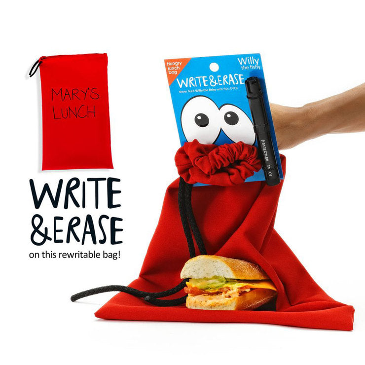 Hungry Lunch Bag Red