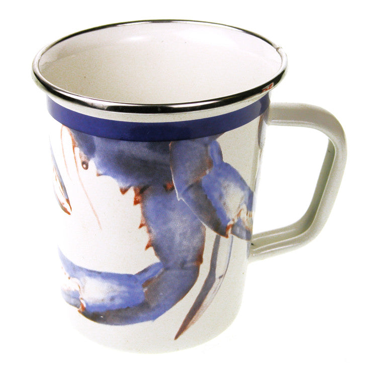 Blue Crab Latte Mug Set Of 2