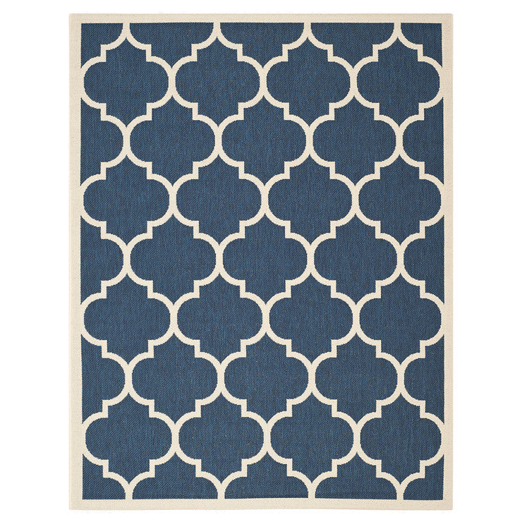 Court Outdoor Rug 8'10x11'6 Navy